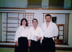 2002 Mr Smith MBE at Renshinkan Dojo, Old Hill. With Mire Zloh.
