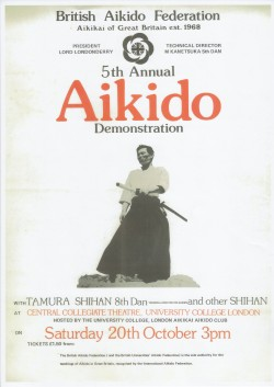 Poster BAF 5th Annual Aikido Demonstration 1979