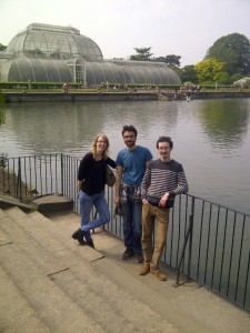 Aurore, Muhammed, Casey at the Palm House Lake